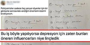 Bir Psikiyatristin İlaç Yazmak Yerine Hastalarına Görüşme Sonrası Verdiği Tartışmalı Öneri Listesi