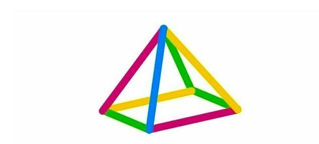 2. Piramidin tepe görüntüsü aşağıdakilerden hangisidir?
