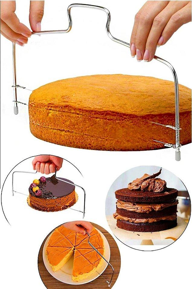6. Kusursuz dilimlenmiş kekler ve pastalar...