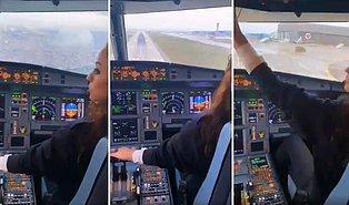 Kokpitten İstanbul Sabiha Gökçen Havaalanı'na İniş Anları