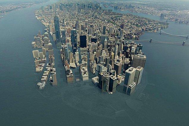 7. Birçok şehir sular altında kalırdı.