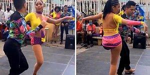 Salsa Yaparak Tek Bacağıyla Gören Herkesi Kendisine Hayran Bırakan Dansçı Kadın