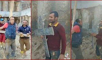 Battal Gazi'nin Zorla Hıristiyan Yapılamaya Çalışıldığı Sahneyi Tekrardan Canlandıran İnşaat İşçileri