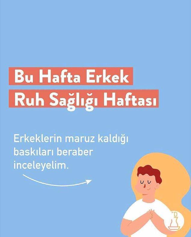 Bu hafta ise Erkek Ruh Sağlığı haftası. Geçtiğimiz günlerde 'turkishdictionary' adlı Instagram sayfası bu konu hakkında harika bir çalışma yapmış.