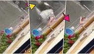 Yağmur Suyu Boşa Gitmesin Diye Balkona Çıkıp Şampuanla Saçını Köpürte Köpürte Yıkayan Adam