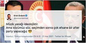 """CHP'li Eren Erdem'in Müzik Yasaklarıyla İlgili Yaptığı """"After Party"""" Yorumu Tepkiyle Karşılandı"""