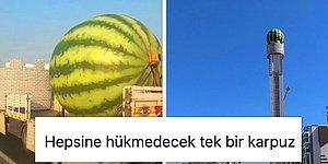 Yeni Bitki Örtümüz Heykellerde Bugün: Diyarbakır'da Gündem Olan Karpuz Maketi Yerine Yerleştirildi...
