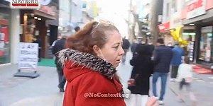 Sokak Röportajında AKP'yi Eleştirip Saniyeler İçinde U Dönüşü Yapan Kadın