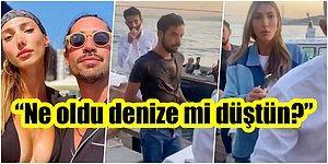 Olaya Bak! Marcus Aral, Geçtiğimiz Günlerde Ayrıldığı Şevval Şahin'in Yeni Sevgilisini Sandalyeyle Denize Attı