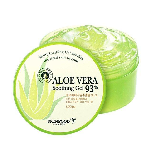 3. Skinfood Aloe Vera güneş sonrası ferahlatıcı ve nemlendirici jel