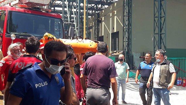 Açıklamada, bölgeden 5 işçinin kaçmayı başardığı, Hasdemir'in alevlerin arasından çıkamadığı bildirildi.