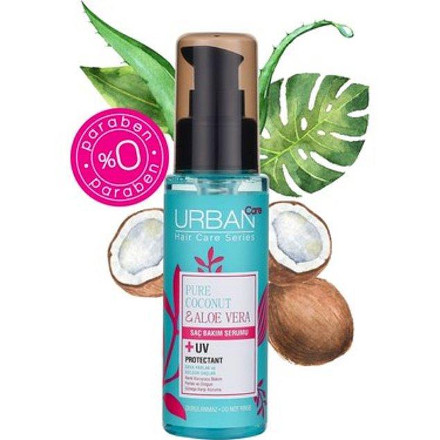 17. Urban Care marka, aloe vera ve hindistan cevizli saç serumu bir harika. Fiyatı da öyle!