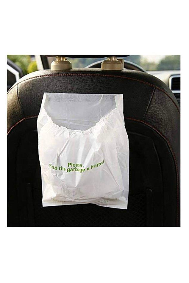 8. Yenilecek, içilecek, ıslak mendiller kullanılacak. Arabada her seferinde çöp nerede diye aramaya son veren bu poşetler tek kelime ile şahane.