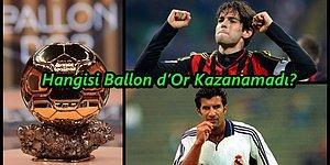 Bu Futbolculardan Hangisinin Ballon d'Or Kazanamadığını Bulabilecek misin?