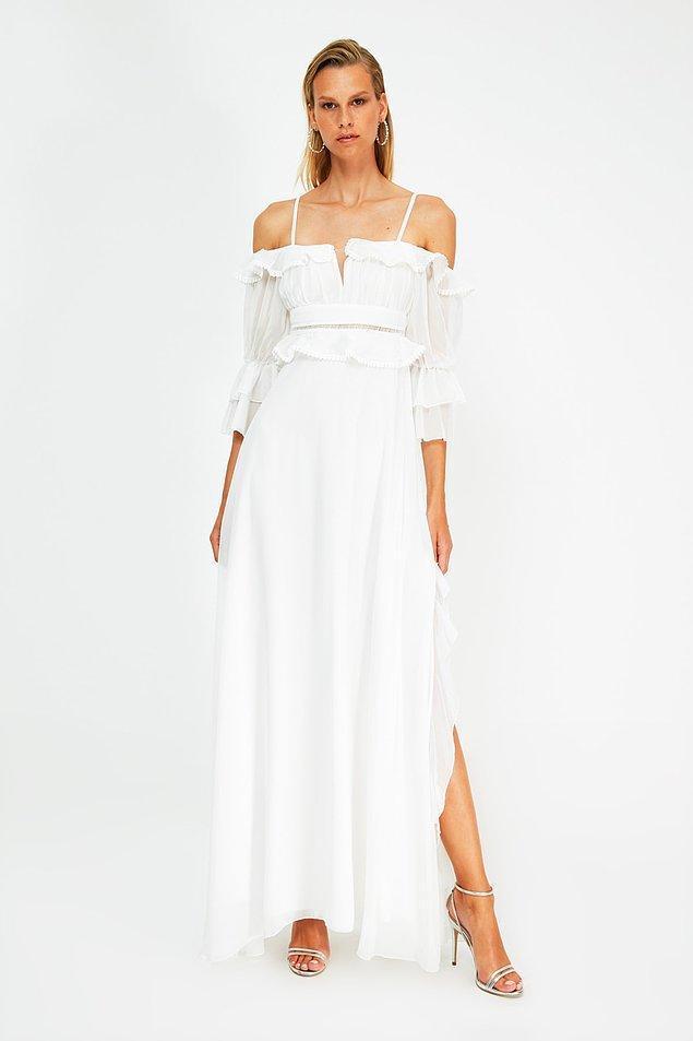 15. Şifon elbise arayanlar için güzel bir seçenek de yine Milla'dan.