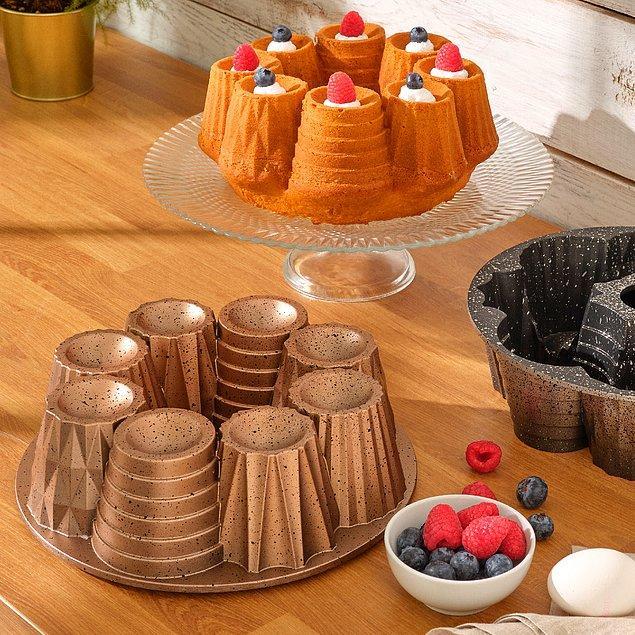 12. Benzersiz pastane kekleri için kullanabileceğiniz Emsan kek kalıpları... 😍
