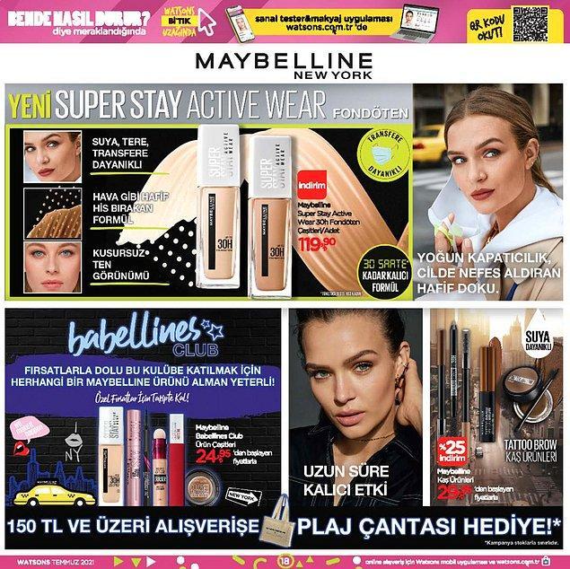 Maybelline New York ürünleri;