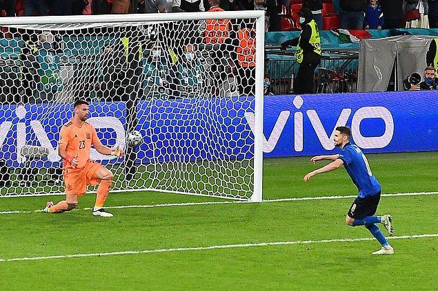 Wembley Stadı'nın ev sahipliği yaptığı dev mücadeleyi penaltı atışları sonucu 4-2 kazanan İtalya Avrupa Futbol Şampiyonası'nda finale yükselen ilk takım oldu.