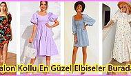 Sezonun Modası Birbirinden Tatlı Balon Kol Elbise Modelleri