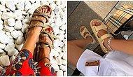 Geniş Ayaklı İnsanları Bile Rahat Ettirecek Hem Konforlu Hem de Çok Şık Sandalet Modelleri