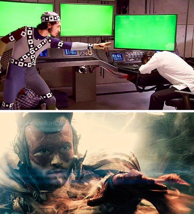 16. Ezra Miller'ın en sevilen süper kahramanlardan biri olan The Flash'e dönüşmesi.