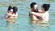 Fahriye Evcen ve Burak Özçivit'den Romantik Deniz Keyfi!