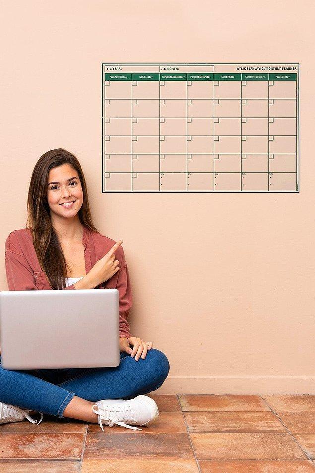 5. Haftalık yerine aylık planlayıcı tercih edenlere kullanımı pratik akıllı kağıt modelleri!