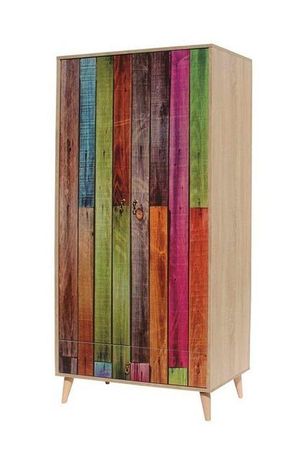 14. Vivense genç odası ürünleri arasında bulduk bu renkli dolabı da...