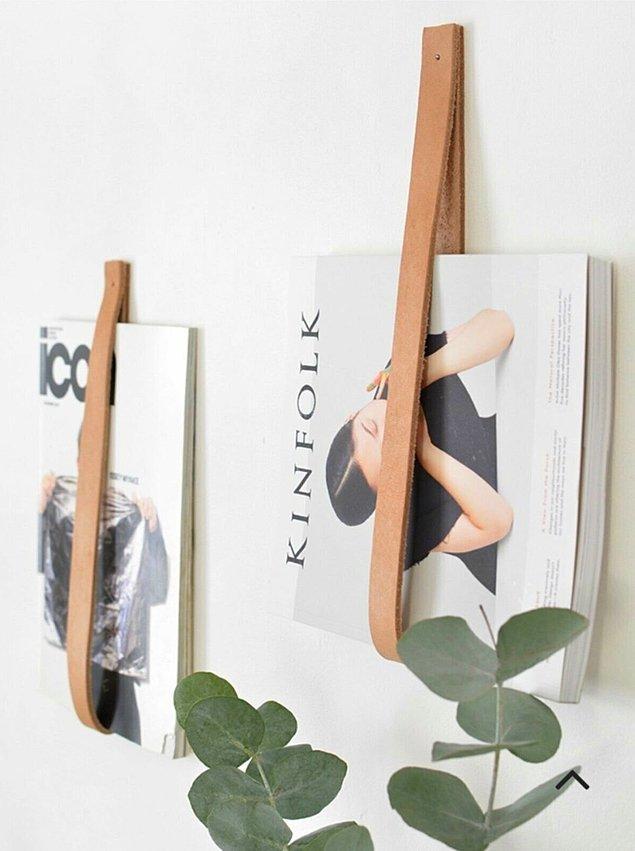 8. Ya da duvarınıza asmak isteyeceğiniz bu kitaplık düzenleyici.