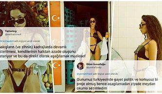 Elif Domaniç'in Markası İçin Fantezi Kıyafetiyle İstanbul Sokaklarında Gezen Model Sosyal Medyayı İkiye Böldü