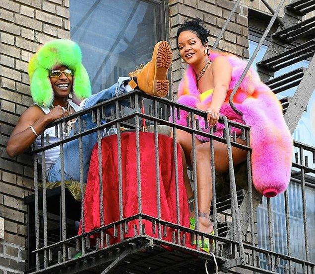 14. Dünyaca ünlü şarkıcı Rihanna ve ASAP Rocky klip çekimlerinde görüntülendi!
