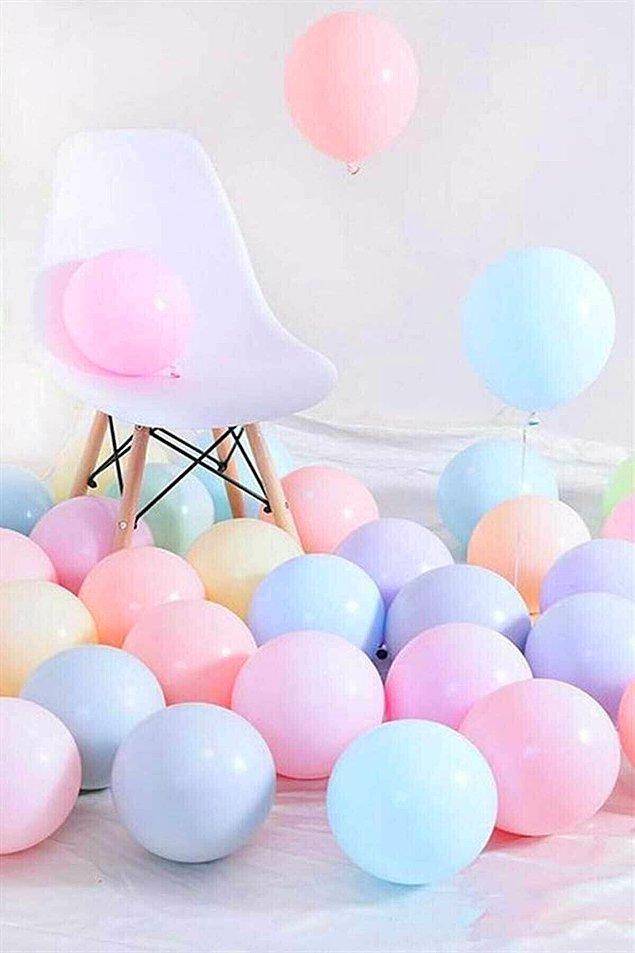 7. Balonlar her organizasyona çok yakışmıyor mu?
