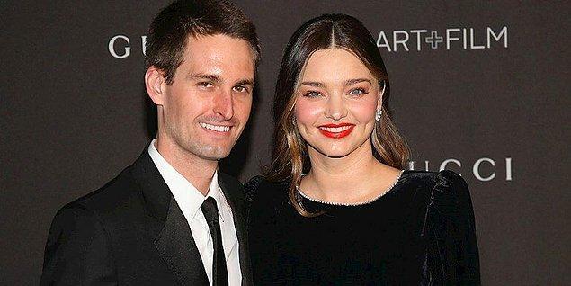 Gel zaman git zaman Miranda, Snapchat'in sahibi Evan Spiegel ile evlendi,