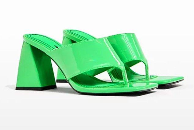 4. Bershka blok topuklu sandaletin renginin güzelliği der susarım...