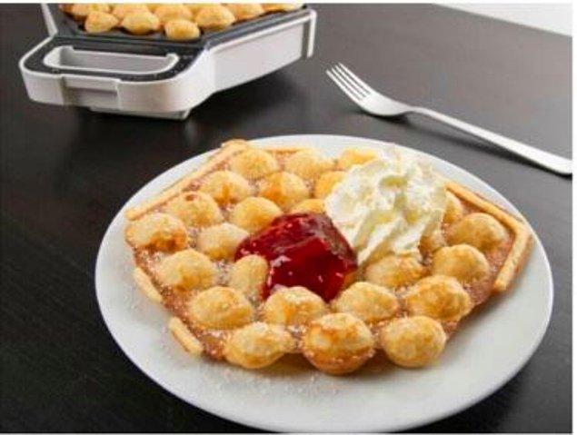 5. Bubble Waffle insanı mutlu eden bir enerjiyle dolduracak mutfağınızı!