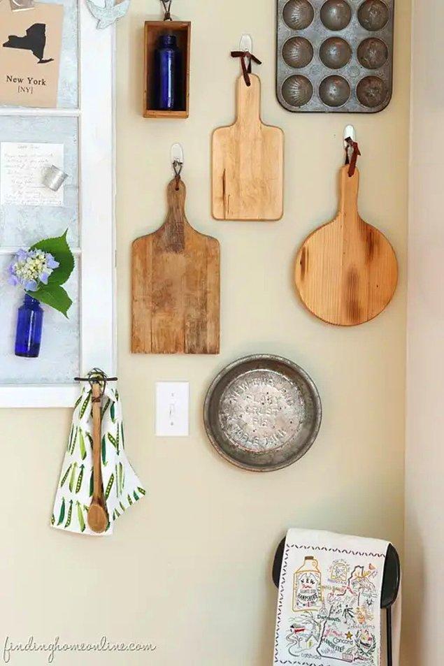 16. Mutfağınızdaki bir alanı sergiye dönüştürmeye ne dersiniz?