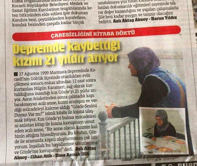 21 yıldır kayıp kızı Gözde'yi arayan Nurgül Karamert, kendisinin fotoğrafına yorum yapmış.