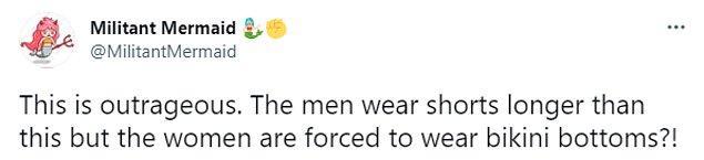"""""""Gerçekten korkunç. Erkekler uzun şortlar giyebiliyor ama kadınlar bikini altı giymek zorunda?"""""""
