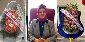Atama Sonrası İlçe Sağlık Müdürlüğüne İlginç Çelenk: Çekemeyenler Zil Taksın