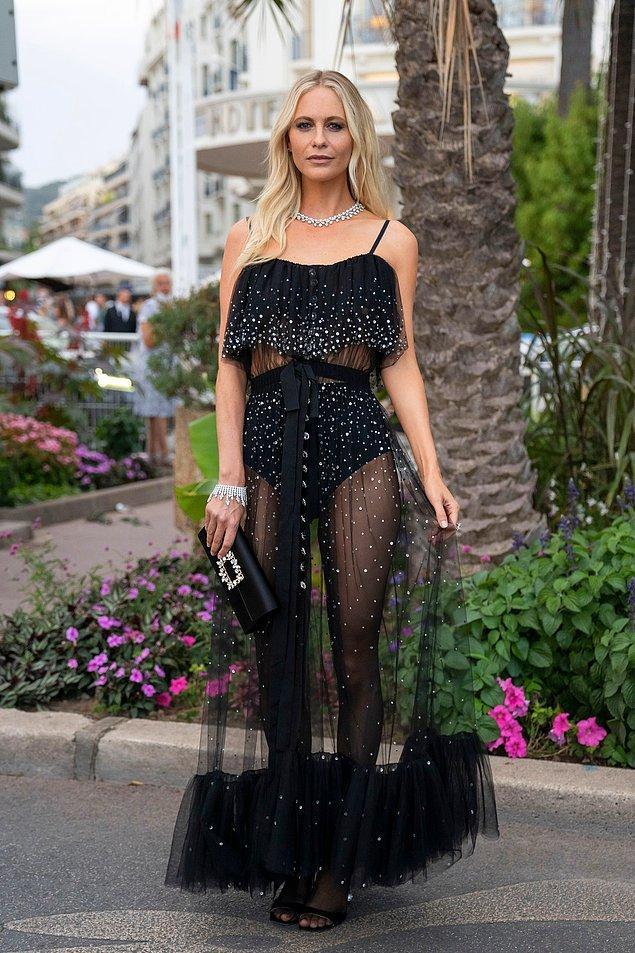 16. Poppy Delevingne transparan modasını festivale geri getirdi.