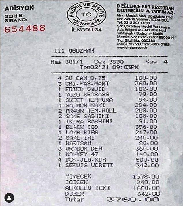 Sahilde suşi keyfi yapanların adisyonu da Zuma Bodrum'dan gelsin. Servis ücretini görmemek mümkün değil tabii ki.