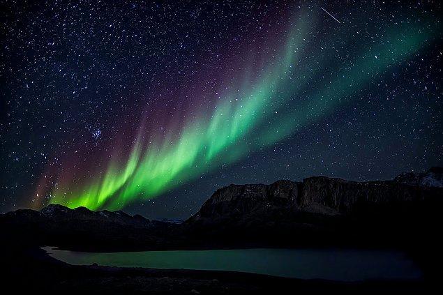 5. Kutup ışıkları her zaman gözle görülmez, görülmesi için havanın bulutsuz ve açık olması gerekir.