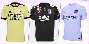 Türkiye'den ve Dünyadan Futbol Takımlarının 2021-2022 Sezonunda Giyecekleri Tüm Formalar