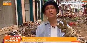 Almanya'da Çalışmalara Yardım Etmiş Gibi Görünmek İçin Kendini Çamura Bulayan Muhabir Kovuldu