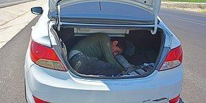 'Dur' İhtarına Uymayan Otomobilden 10 Sığınmacı Çıktı!