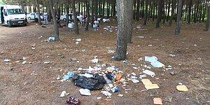 Sarıyer'de Piknikçilerden Geriye Bu Manzara Kaldı