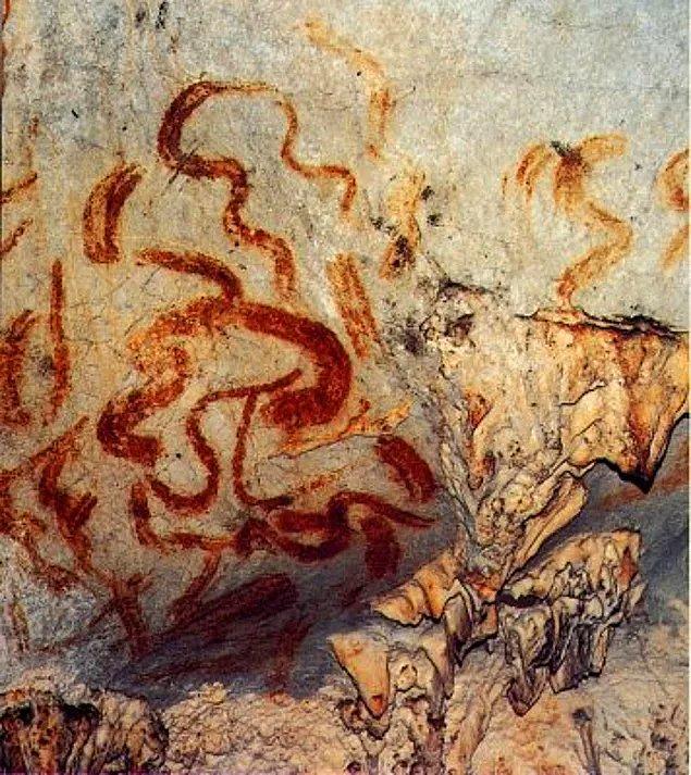 16. Bizlerden 30 bin yıl önce yaşayan Cro-Magnon'lar yani erkek homosapienler mağara duvarlarına kutup ışıklarını resmetmiştir.