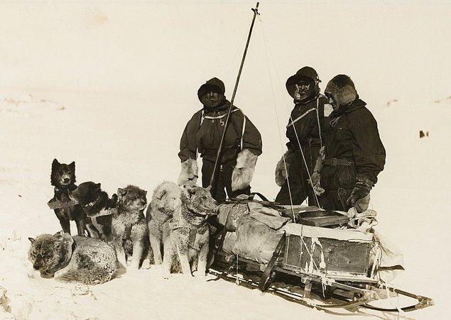 Yolculuğu boyunca Douglas Mawson'a İsviçreli kaşif Xavier Mertz ve İngiliz üsteğmen Belgrave Ninnis eşlik ediyordu.
