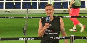 Max Kruse, Tokyo 2020'de Canlı Yayında Kürtçe Yazılı Tişörtle Sevgilisine Evlenme Teklifi Yaptı
