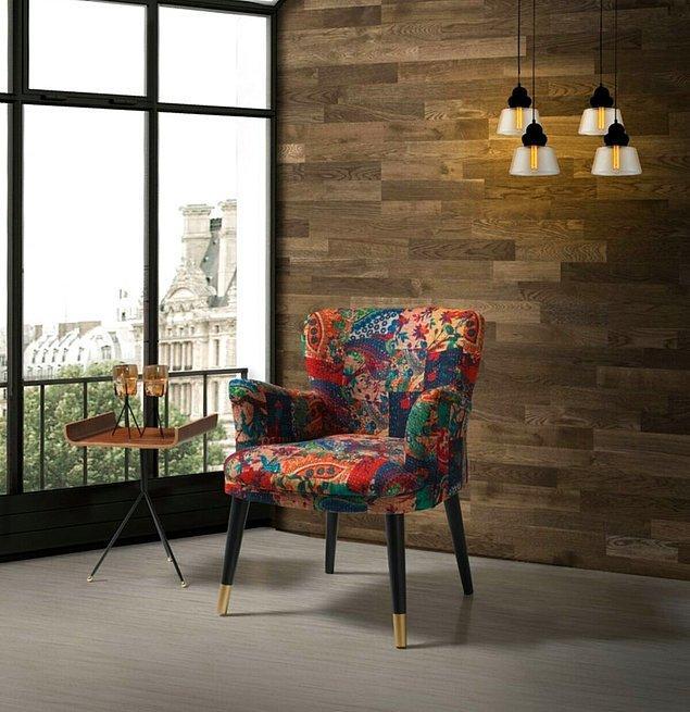 Özellikle tek renk mobilyaların yanına ayrı bir hava katacak türden...